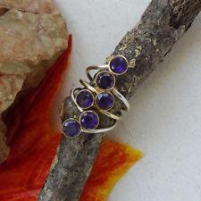 Amethyst, vergoldet, lila, modern, Design, Ring, Ø 17,0 mm, 925 Sterling Silber
