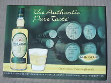 Tôle publicitaire Glen Grant pure single malt Scotch Whisky The Authentique