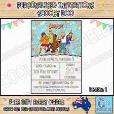 SCOOBY DOO Personalised Birthday Party Invitations / Invites Party Supplies