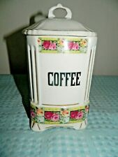 Czechoslovakia Ceramic Coffee Canister and Lid