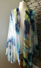 Ladies Womens Lightweigh See-through Beach Cover Up Open Cardigan Holiday Size S