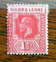 World Stamps Sierra Leone 1904 1.1/2d King George VII Colony Kings Head Scarlet