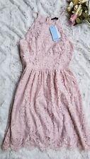 NWT Soprano Lace Pale Pink Juniors Dress Size M