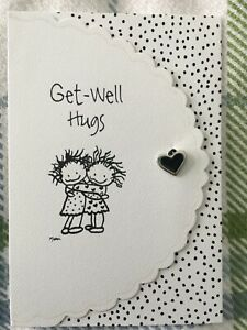 New Blue Mountain Arts Card GET WELL HUGS with charm