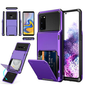 Case Galaxy S20FE S20 Flip Wallet Cover Military Grade Card Holder Bumper Impact