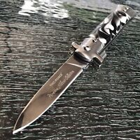 """9"""" TAC FORCE MILANO STILETTO TACTICAL MARBLE  ASSISTED OPEN FOLDING KNIFE Pocket"""