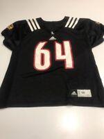 Game Worn Used Louisville Cardinals UL Football Jersey Adidas Size 50 #64
