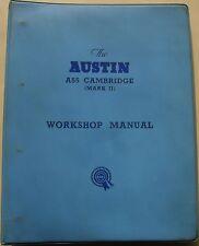Austin A55 Cambridge Mk 2 & A60 Original Workshop Manual Pub. No. AKD1025B 1961