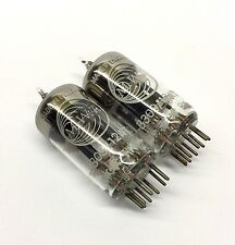 M. Pair  B309 12AT7 ECC81 Black Plate Ring getter NOS Marconi  UK  Valve Tubes