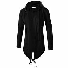 USASTOCK Men hooded jacket long cardigan black ninja goth gothic punk hoodie Top