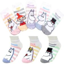 Pack of 5 pairs MOOMIN Stripe Pattern Licensed Character Casual Ankle Socks