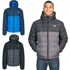 Mens Trespass Oskar Warm Hooded Water Resistant Padded Jacket Quilted Coat