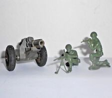 Vintage Banner Toys Plastic Cannon with Two Soldiers