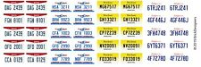 Custom Lego License Plate Stickers - Set 2 - States: OH / NC / NJ / CA