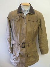 Damas Chaqueta Waxed Barbour L1501 utilidad Mac UK 14 euro 40 en tan