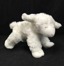 "Gund Baby Rattle Lamb Plush White Winky 058133 Small Sheep Soft  6"""