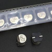 20pcs 470uF 16V Nichicon UR 16V470uF 10X10mm SMD Electrolytic Capacitor