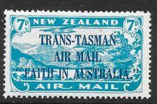 NEW ZEALAND SG554 1934 AIR 7d LIGHT BLUE MTD MINT