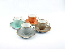 Vintage Nature Geschirr Espressotassen Set 4 Personen 8tlg Creatable 17724