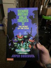 NECA Teenage Mutant Ninja Turtles Super Shredder Deluxe Action Figure USED! Comp