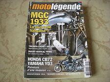 MOTO LEGENDE 152 12.2004 MGC 600 N3A 1933 MAGNAT DEBON 400 CHENEY TRIUMPH 500