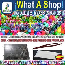 OFERTA 5000 Tubos HAMA BEADS MIDI más Pegboard 15 cm más Pinza más Papel Plancha