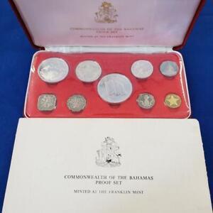 1975 Bahamas 9 Coin Silver Pf Set 2.8721 ozt ASW KM#PS12 coas/boxes L10442