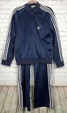 Vintage Adidas ATP Keyrolan Tracksuit Jacket Pants Set Blue 3 Stripes Trefoil L