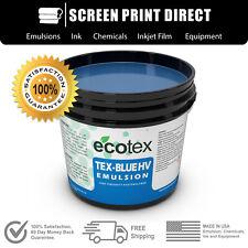 Ecotex Tex Blue Hv High Viscosity Textile Screen Printing Emulsion 1 Pint16oz