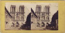 Notre-Dame de Paris Stéréo Vintage albumine ca 1865-70