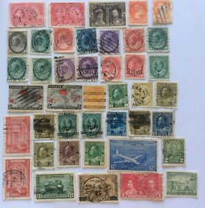 LARGE LOT CANADA POSTAGE STAMPS HIGH CAT VALUE EARLY MINT & USED VICTORIA