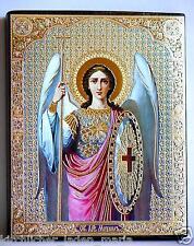 Ikone Erzengel Michael Holzplatte икона Архангел Михаил освящена 18x15x2 cm