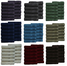 24 Piece face Cloth 100% Combed Cotton Luxury wash Cloths Towel Premium Quality!