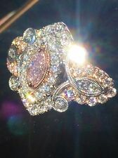 18K 2-TONE GOLD 1.77 CT GIA CERTIFIED NATURAL FANCY PINK DIAMOND COUTURE RING!!