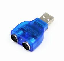 Usb mâle vers usb 2 femelle PS2 adaptateur convertisseur splitte pour souris & clavier PS/2