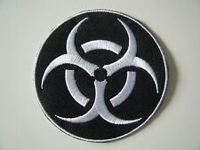 BIOHAZARD PATCH LOGO Embroidered Iron On Badge BIOLOGICAL HEALTH WARNING NEW