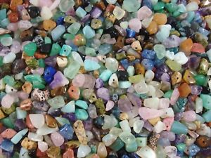 Gemstone Chips 250g Mix Bulk Pack 1000pcs Beads Jewellery Necklace FREE POSTAGE