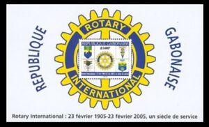OFFER GABON 2005 ROTARY INTERNATIONAL CENTENARY SOUVENIR SHEET SS BLOC  RARE MNH