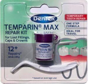DenTek Temporary Dental Cement Tooth Filling Lost Fillings Repair & Loose Caps