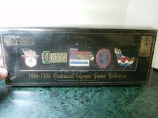 1896-1996 Centennial Olympic Atlanta 5 Piece Pin Set, Brand New in Black Box