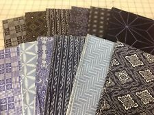 FreeSpirit Parson Gray Boro, Katagami, Empire Fabric Fat Quarter Bundle