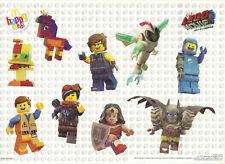 McDonalds HAPPY MEAL février 2019 Film Lego 2 stickers