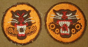 Original WWII Tank Destroyer Forces patch Lot (2) Variations Armor - Used