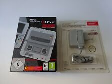 New Nintendo 3DS XL Super Nintendo Edition + adaptateur officiel - NEUF-