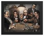 FRAMED 8X10 Mobsters Playing Poker - Pesci, Gandolfini, Brando Pacino, DeNiro