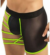 EXOTIC NEON GREEN Strappy Boxer Brief Man Pouch Underwear Stripper Lingerie OS