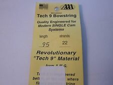 """New Allied Archery Amg Tech 9 Bowstring Single Cam 95"""" 22 Strand Aaa More Listed"""