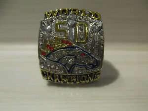 Superbowl L Replika Ring DENVER BRONCOS Super Bowl 50 NFL Miller