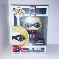 Funko POP! Ms. Marvel NYCC 2019 Exclusive Official Sticker Vinyl Figure Damaged
