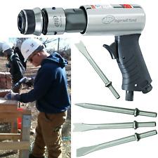 AIR HAMMER With 3 Piece Chisel Set Ingersoll Rand Heavy Duty Steel Barrel Tool